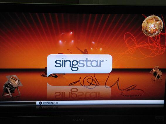 SingStar - le splashscreen