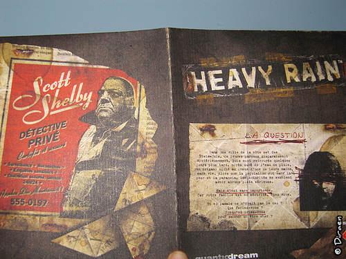 Contenu de la boite Collector d'Heavy Rain - page 1