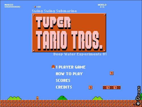 Ecran titre de Tuper Tario Tros