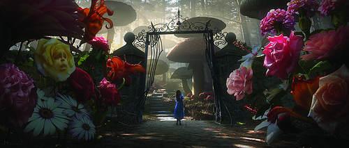Alice aux Pays des Merveilles - alice à l'entrée