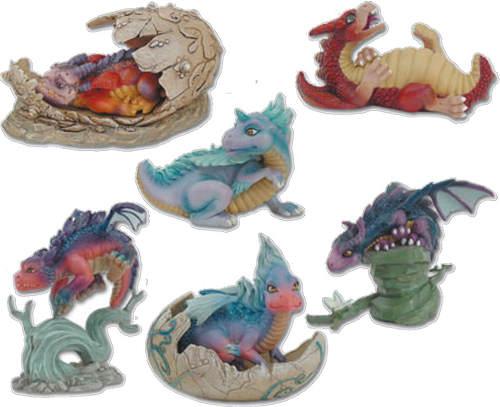 Figurines Bébés dragons Geyser
