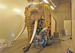 Un éléphant presque vrai