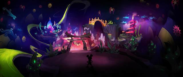 Epic Mickey - Les décors sont très travaillés