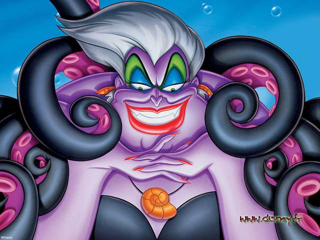 Ursula, big méchante (et fausse travestie) de la Petite Sirène (1989)