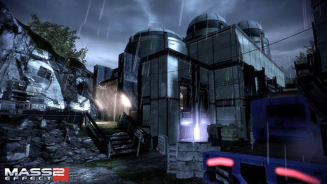 Mass Effect - Arrival. Screenshot ingame d'un bâtiment