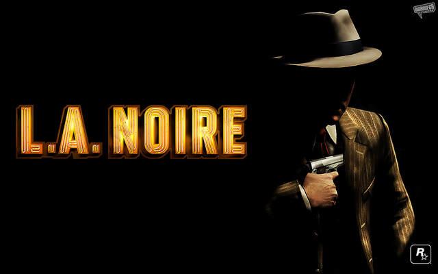 L.A Noire - Iamge d'un homme en costume, à demi dans l'ombre, prêt à dégainer un pistolet de la poche intérieure de sa veste.