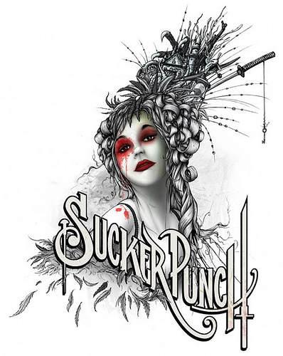 """Dessin - Recherche graphique autour du logo """"Sucker Punch"""""""