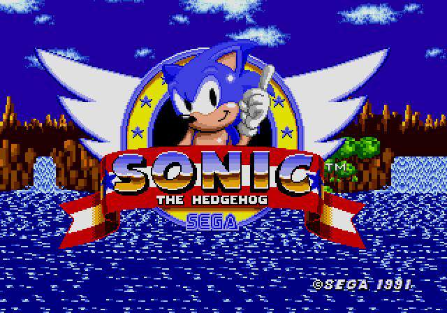 Screenshot de l'écran Titre - Sony the hedgehog