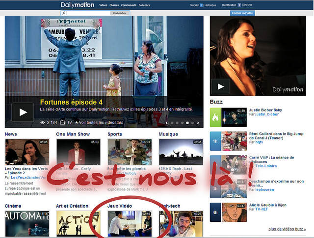 Screenshot - La home de Dailymotion !