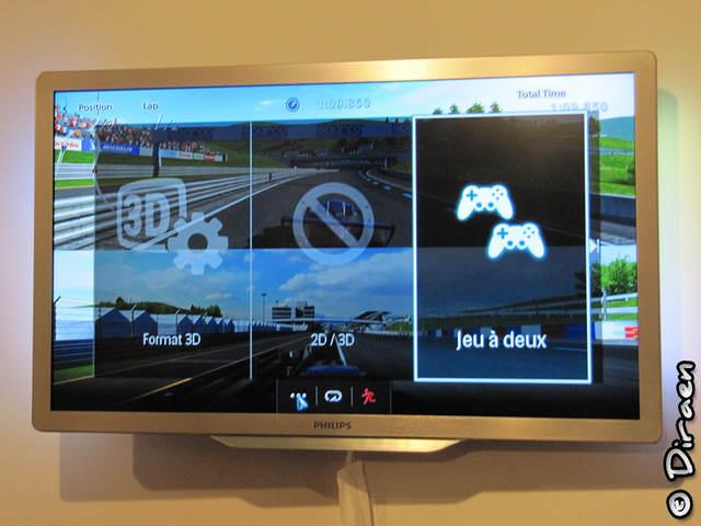 Photo du menu de gestion de la 3D dual gaming
