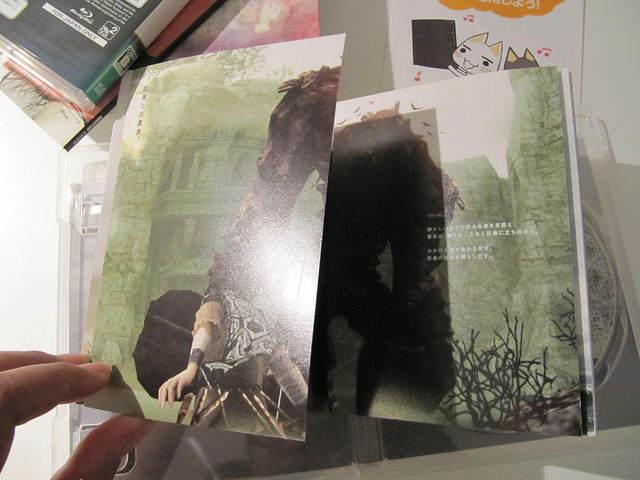 Découpe de page version folioscope - Edition Collector de Ico & Shadow of the Colossus