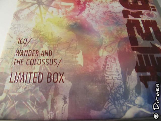 Détail du gauffrage du coffret sur les titres - Edition Collector de Ico & Shadow of the Colossus