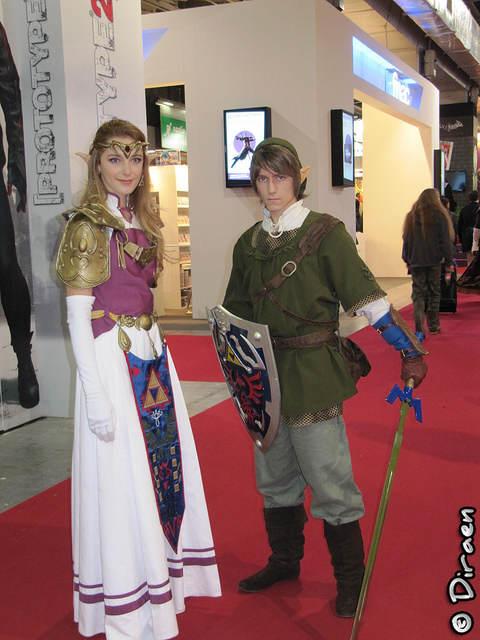 """Photo des déguisements de """"Link"""" et """"Zelda"""""""