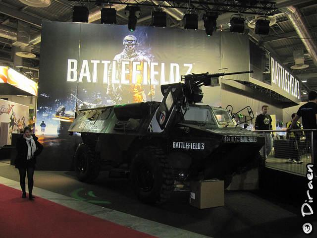 Photo d'un char aux couleurs de Battlefield 3