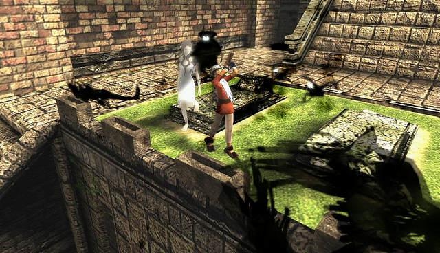 Ico et Yorda se font attaquer par les créatures des ténèbres.