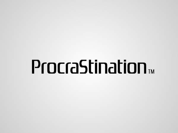 Procrastination écrit avec la typo Playstation