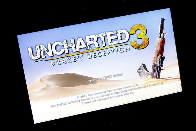 Photo d'un écran titre d'Uncharted 3