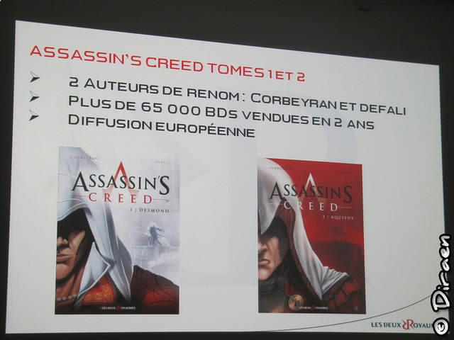 Diapositive sur les deux premiers tomes des BD Assassin