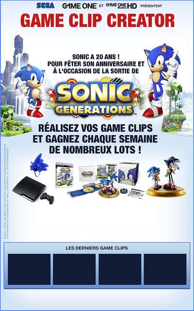 Screenshot de la page Facebook du Game Clip Creator de GameOne