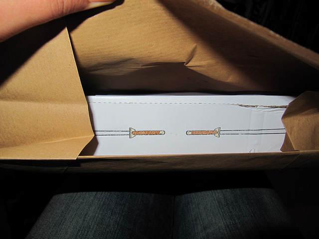 Photo - coté de la boite en cours de déballage