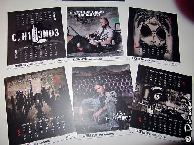 Photo des cartons du calendrier