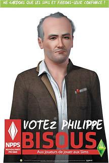 Copie parodique de l'affiche de campagne réelle de Philippe Poutou qui à l'air dépressif et fatigué