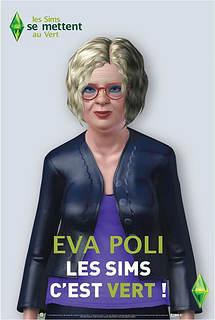 Copie à peine parodique de l'affiche de campagne réelle d'Eva Joly