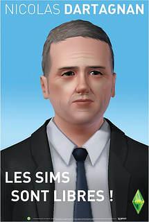 Nicolas Dupont-Aignan version sims