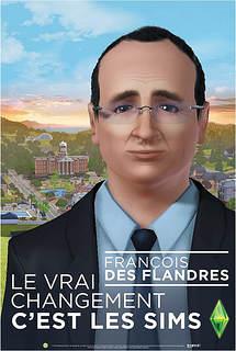 Copie à peine parodique de l'affiche de campagne réelle de françois Hollande