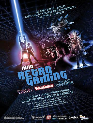 affiche de la soirée Nuits au Max - Retro Gaming