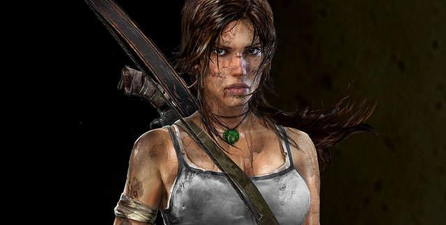 Screenshot de la nouvelle Lara, plus jeune donc, ensanglantée et sale