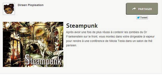 Mon résultat au portrait chinois : Steampunk !