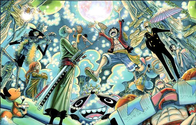 Illustration des derniers épisodes de One Piece, après le break narratif