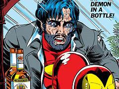 Zoom sur la couverture du comics Iron Man