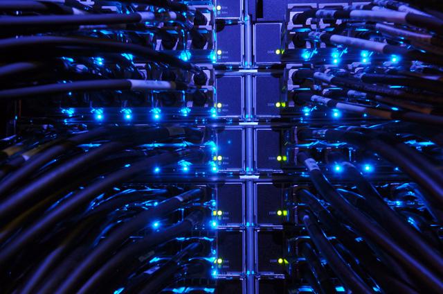 Cables Ethernet d'un Datacenter