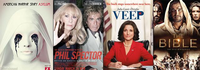 American Horror Story, Phil Spector, Veep et The Bible