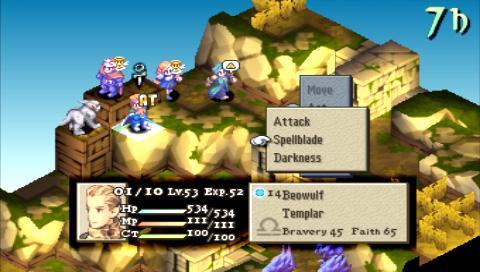 Un combat de Final Fantasy Tactics.