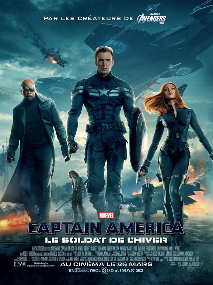 """Affiche : """"Captain America : Le Soldat de L'Hiver"""""""