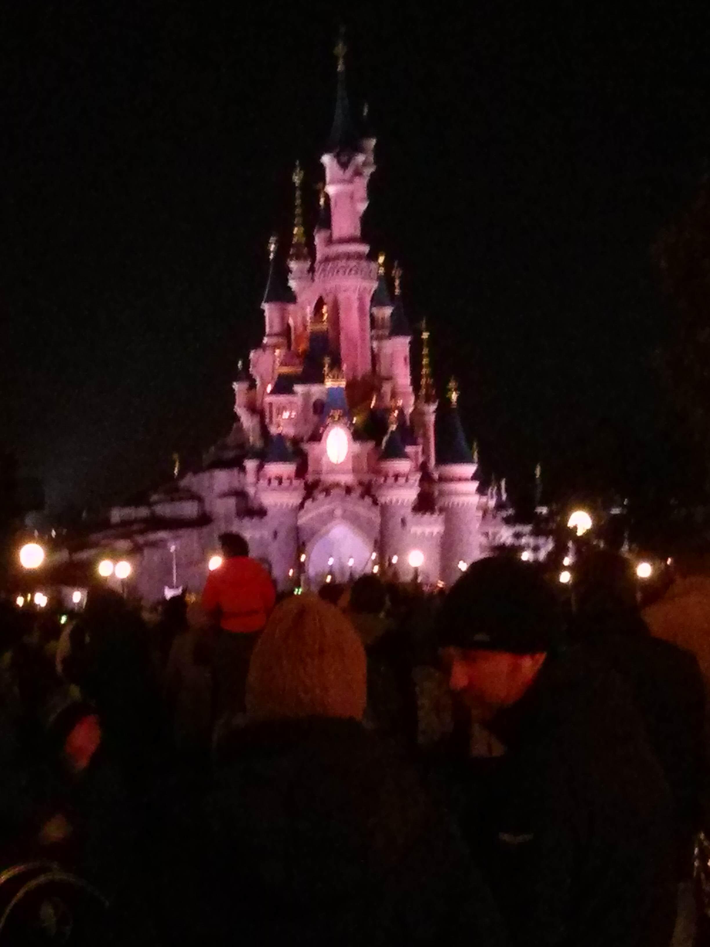 Le château de la belle au bois dormant, de nuit