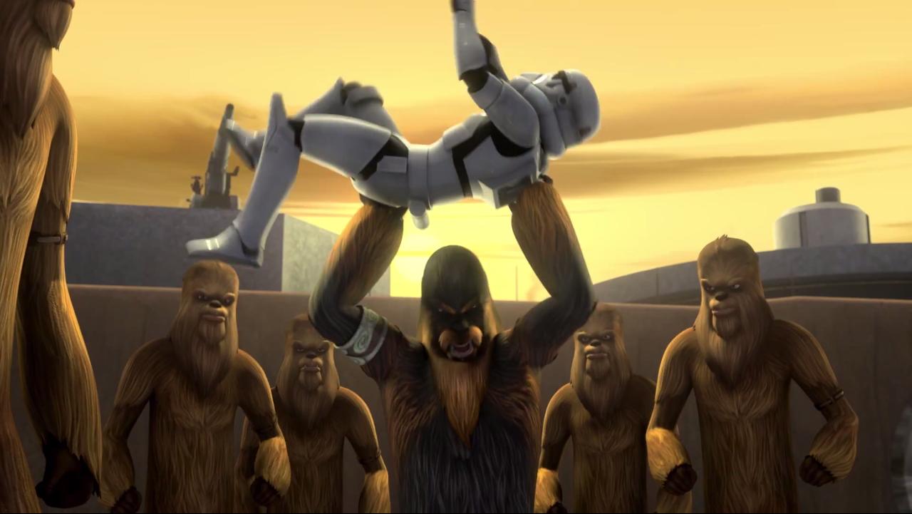 Star Wars Rebels Wiki - Wookies Versus Stormtrooper Trailer