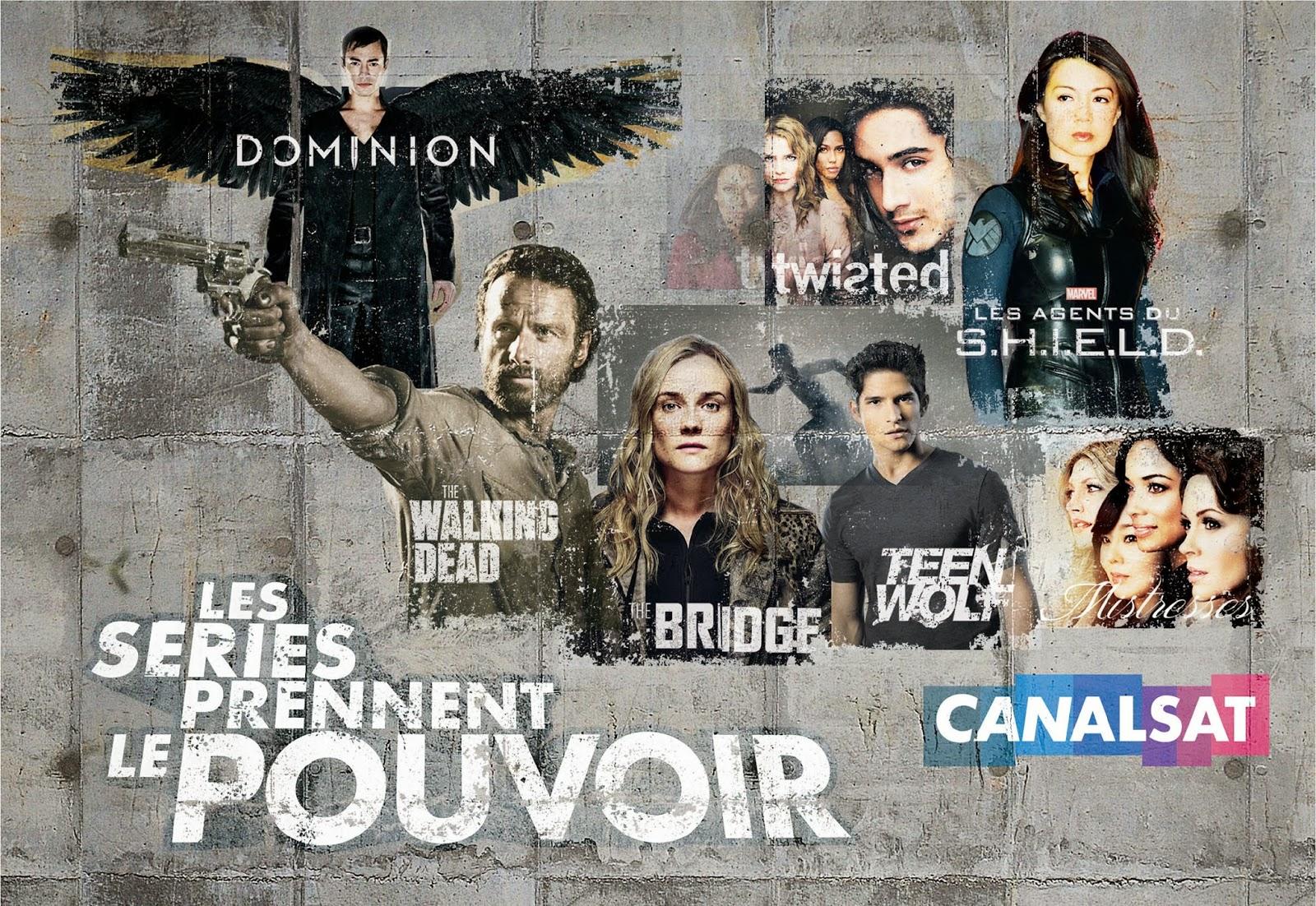 Pour sa rentrée, CanalSat donne le pouvoir aux séries !