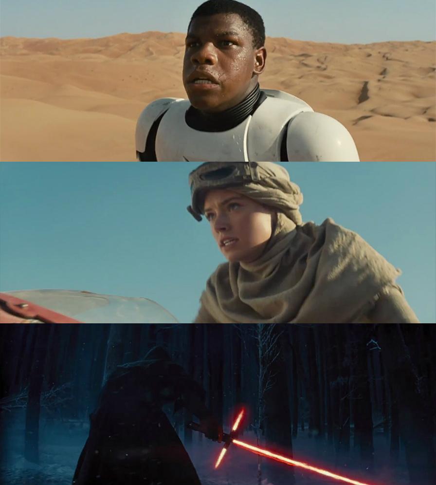 Star Wars VII : Le Réveil de la Force - Finn, Rey et Kylo Ren