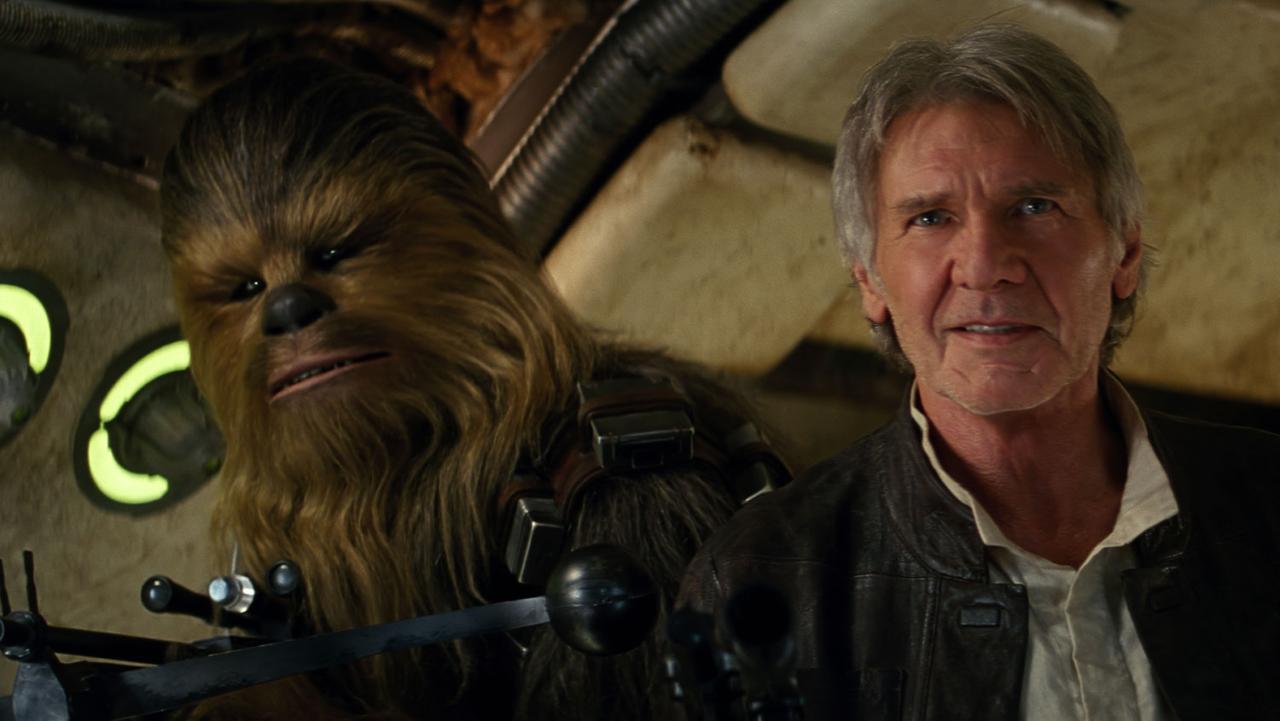 """Star Wars VII : Le Réveil de la Force - Chewie et Han Solo : """"We're home"""""""